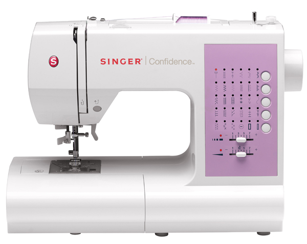 SINGER confodence. With this i hope i can sew my little family's wardrobe and else.